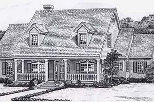 Colonial Exterior - Front Elevation Plan #310-918