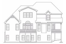 Home Plan - Traditional Exterior - Rear Elevation Plan #419-117