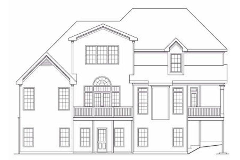 Traditional Exterior - Rear Elevation Plan #419-117 - Houseplans.com
