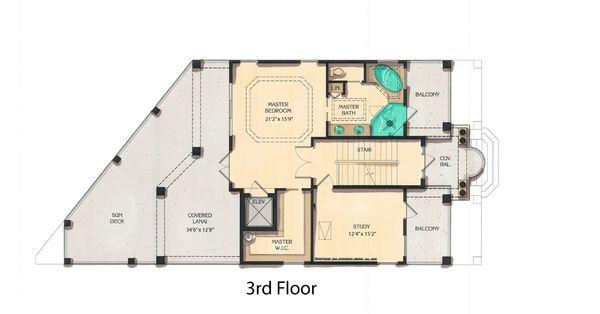 Mediterranean Floor Plan - Upper Floor Plan #548-9