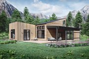 Cabin Style House Plan - 3 Beds 2 Baths 1410 Sq/Ft Plan #924-16