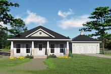 Dream House Plan - Craftsman Exterior - Front Elevation Plan #44-234