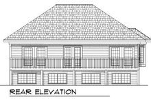 House Plan Design - Ranch Exterior - Rear Elevation Plan #70-770