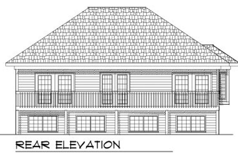 Ranch Exterior - Rear Elevation Plan #70-770 - Houseplans.com