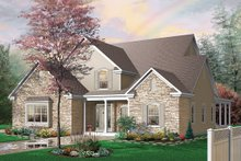 Home Plan - Front View - 3000 square foot Traditional home
