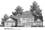 Craftsman Style House Plan - 4 Beds 3.5 Baths 2920 Sq/Ft Plan #70-910 Exterior - Rear Elevation