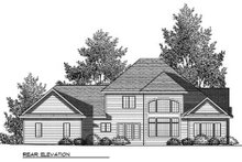 Dream House Plan - Craftsman Exterior - Rear Elevation Plan #70-910