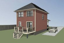 Dream House Plan - Cottage Exterior - Other Elevation Plan #79-121