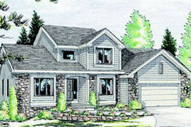 Traditional Exterior - Front Elevation Plan #20-737 - Houseplans.com