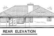 Traditional Style House Plan - 3 Beds 2 Baths 1583 Sq/Ft Plan #18-110 Exterior - Rear Elevation