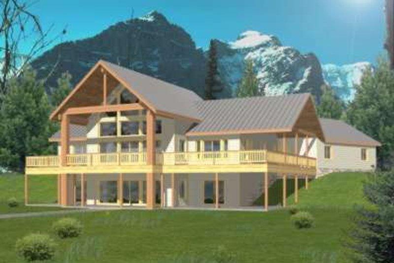 Architectural House Design - Modern Exterior - Front Elevation Plan #117-393