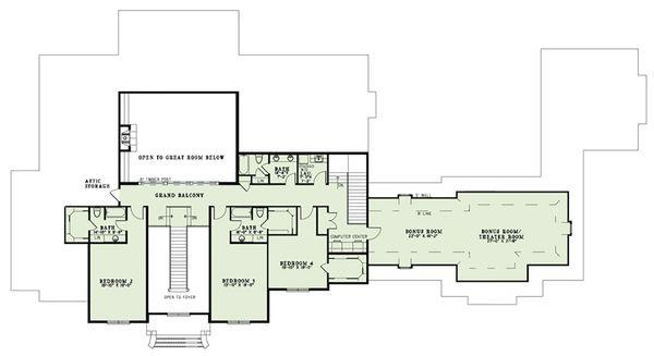 European Floor Plan - Upper Floor Plan Plan #17-2570