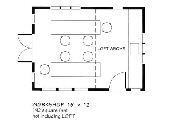 Colonial Floor Plan - Main Floor Plan Plan #917-23