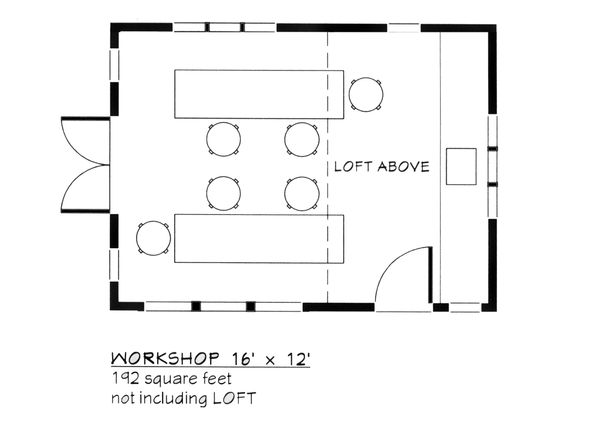 Colonial Floor Plan - Main Floor Plan Plan #917-23