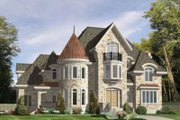 European Style House Plan - 4 Beds 2.5 Baths 4944 Sq/Ft Plan #138-118 Exterior - Front Elevation