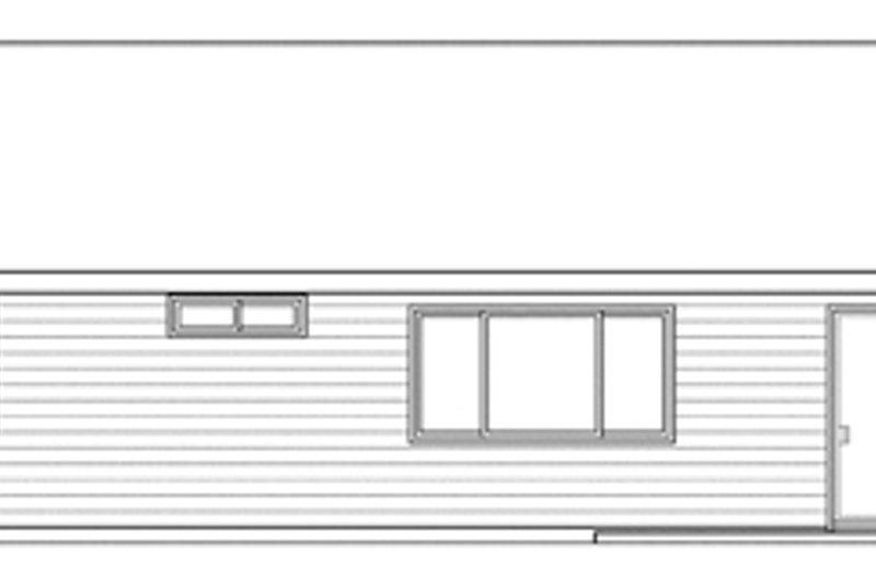 Traditional Exterior - Rear Elevation Plan #124-871 - Houseplans.com