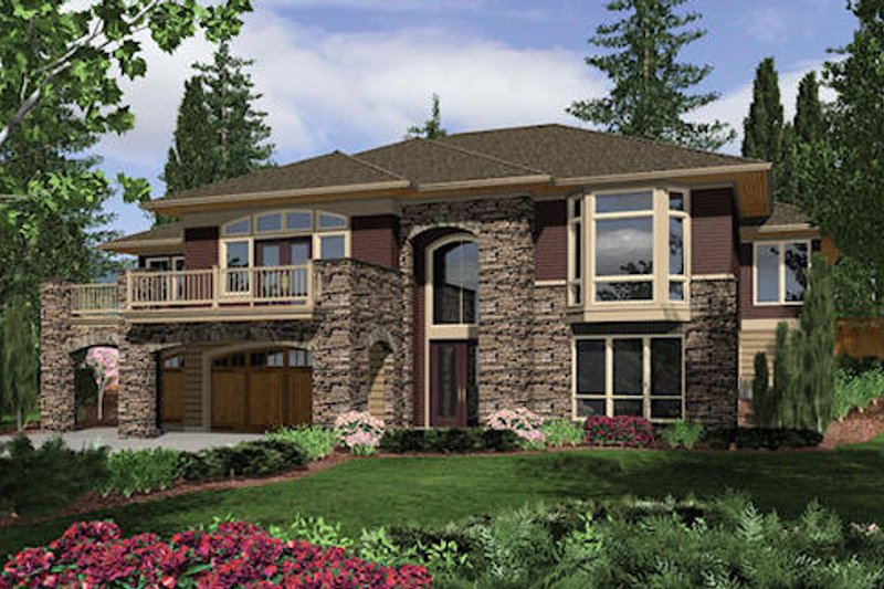 Contemporary Exterior - Front Elevation Plan #48-429