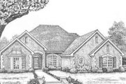 European Style House Plan - 3 Beds 2.5 Baths 2387 Sq/Ft Plan #310-366 Exterior - Front Elevation