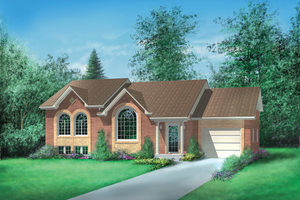 Ranch Exterior - Front Elevation Plan #25-1152
