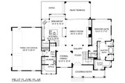 Traditional Style House Plan - 4 Beds 4.5 Baths 3592 Sq/Ft Plan #413-886 Floor Plan - Main Floor