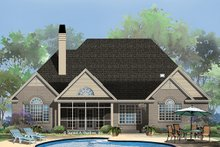 European Exterior - Rear Elevation Plan #929-964