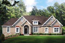 Ranch Exterior - Front Elevation Plan #1010-235