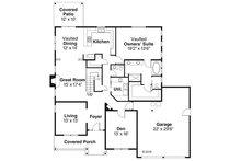Craftsman Floor Plan - Main Floor Plan Plan #124-845