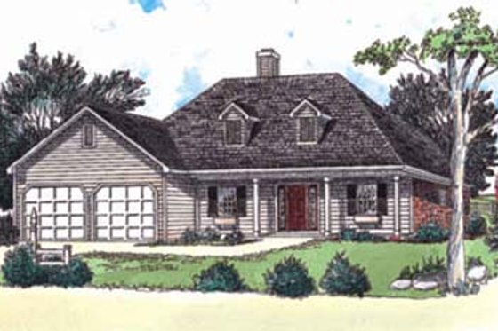 Traditional Exterior - Front Elevation Plan #16-109