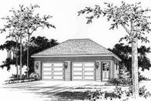 Traditional Exterior - Front Elevation Plan #22-455
