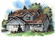 Traditional Style House Plan - 3 Beds 2.5 Baths 1781 Sq/Ft Plan #18-269 Exterior - Front Elevation