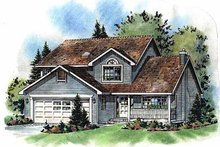 House Plan Design - Traditional Exterior - Front Elevation Plan #18-269