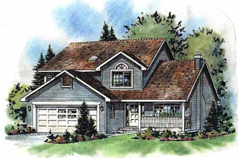 House Blueprint - Traditional Exterior - Front Elevation Plan #18-269