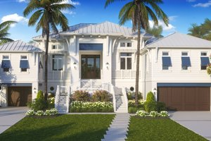 Dream House Plan - Beach Exterior - Front Elevation Plan #27-571