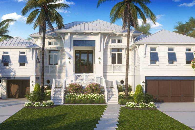 Home Plan - Beach Exterior - Front Elevation Plan #27-571