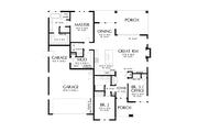 Contemporary Style House Plan - 3 Beds 2 Baths 1821 Sq/Ft Plan #48-1036 Floor Plan - Main Floor