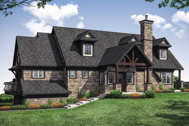 Cottage Exterior - Front Elevation Plan #124-1110