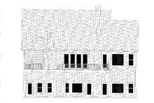 Cottage Exterior - Rear Elevation Plan #437-107