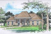 European Style House Plan - 4 Beds 3.5 Baths 2806 Sq/Ft Plan #15-293 Exterior - Front Elevation