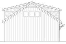 Country Exterior - Rear Elevation Plan #124-944