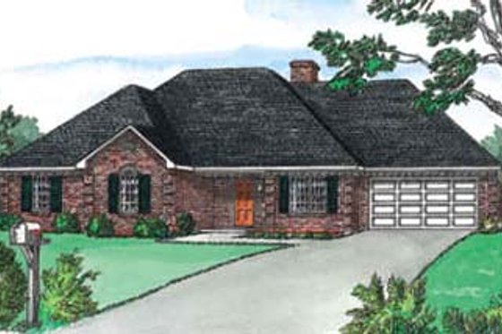 Traditional Exterior - Front Elevation Plan #16-117