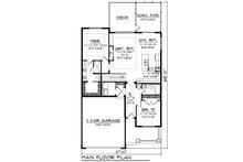 Ranch Floor Plan - Main Floor Plan Plan #70-1482