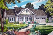 Traditional Style House Plan - 3 Beds 2 Baths 1642 Sq/Ft Plan #312-569 Exterior - Front Elevation