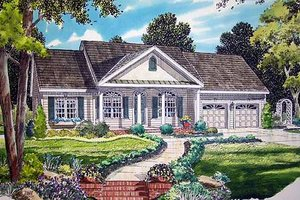 Traditional Exterior - Front Elevation Plan #312-569