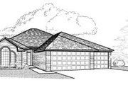 Traditional Style House Plan - 4 Beds 2 Baths 1869 Sq/Ft Plan #65-301 Exterior - Front Elevation