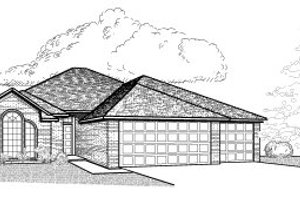 Traditional Exterior - Front Elevation Plan #65-301