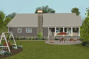 Craftsman Style House Plan - 4 Beds 3.5 Baths 2099 Sq/Ft Plan #56-712 Exterior - Rear Elevation