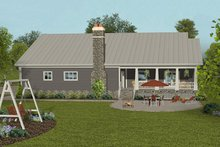 Craftsman Exterior - Rear Elevation Plan #56-712
