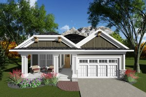 Craftsman Exterior - Front Elevation Plan #70-1259