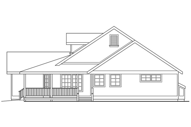 Country Exterior - Other Elevation Plan #124-164 - Houseplans.com