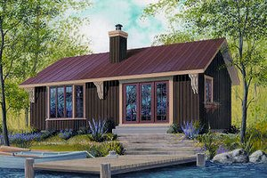 Cottage Exterior - Front Elevation Plan #23-754